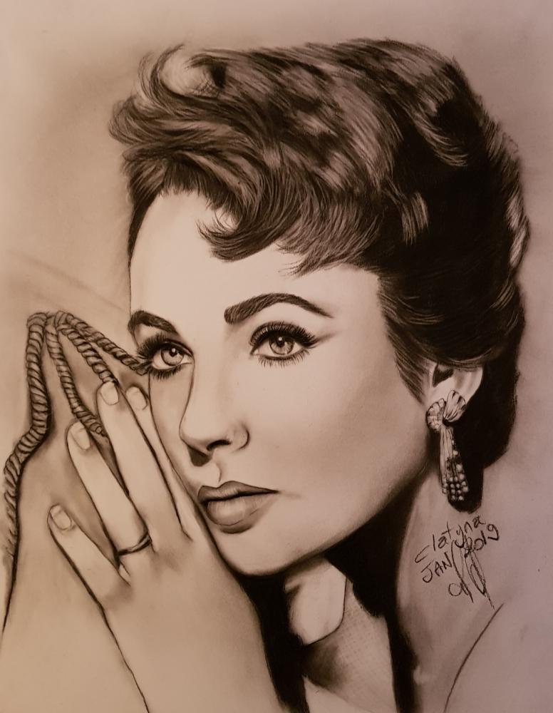 Elizabeth Taylor by clatyna